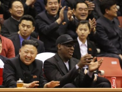 Foto. Kim Jong Un, Dennis Rodman (AP Photo/VICE Media, Jason Mojica)